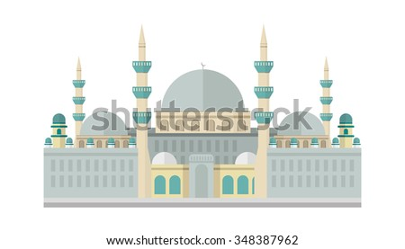 colored mosque - stock vector