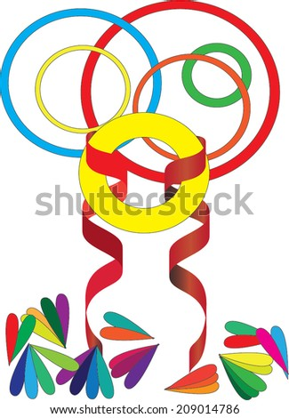 Colored objects  - stock vector