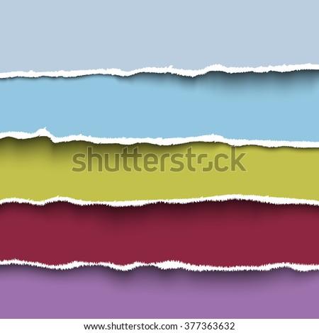 colored paper headers vector design elements stock vector 377363632