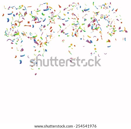 Colored paper on  the white background. Vector  - stock vector