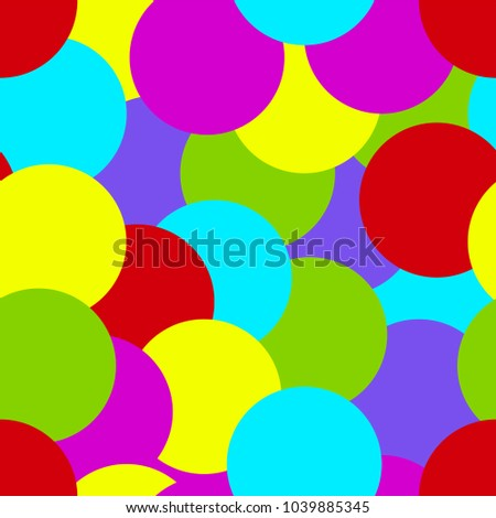 Colored Paper Wrapper With Rounds Background Birthday Baby Party Print Bright Circles