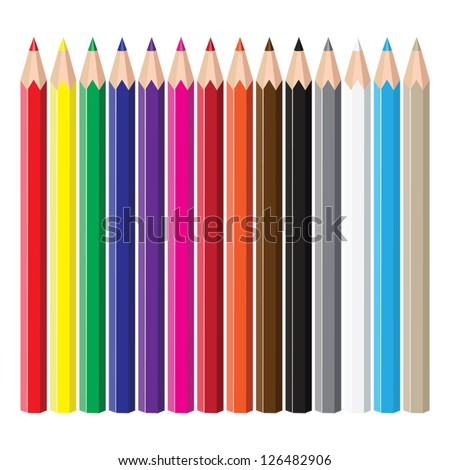 Colored pencils. - stock vector