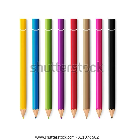 Colored pencils. vector illustration
