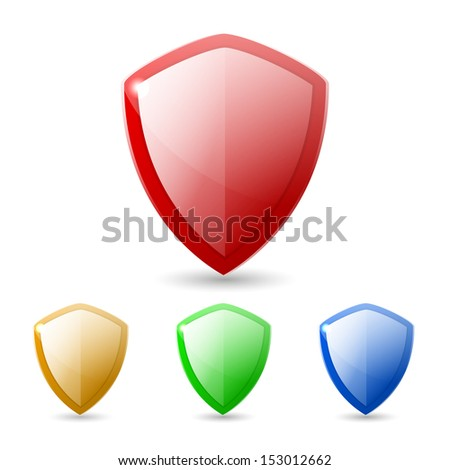 Colored Shields - stock vector