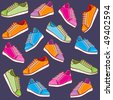 Colored sport shoes - stock photo