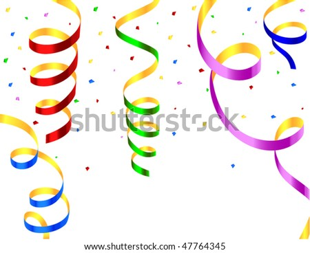 colored streamers - stock vector