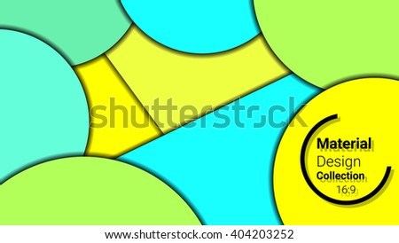 colored template for presentation in 16:9 format. vector illustration. designed for business background, education, web, brochure. abstract creative concept layout template in yellow, blue, red colors - stock vector