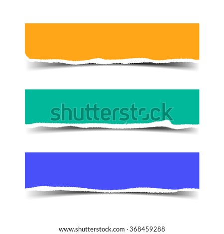 colored torn paper colorful pieces vector stock photo photo vector rh shutterstock com torn paper vector effect torn paper vector illustrator