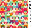 colored triangle seamless pattern - stock vector