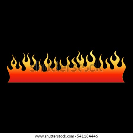 Colored tribal flames. It can be used for tattoos and other designs, as well as the creation of a logo or template.