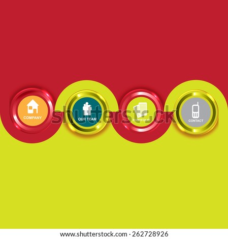 Colored Vector background with icons for the introduction of the company.  - stock vector