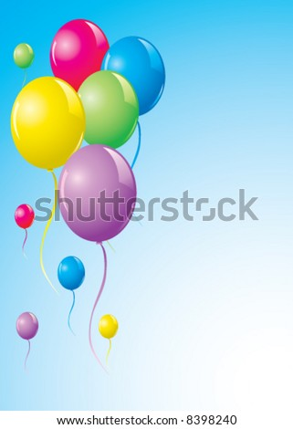 Colored vector balloons
