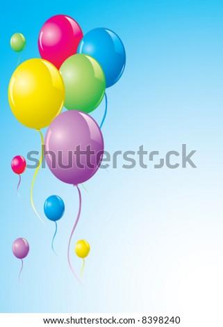 Colored vector balloons - stock vector