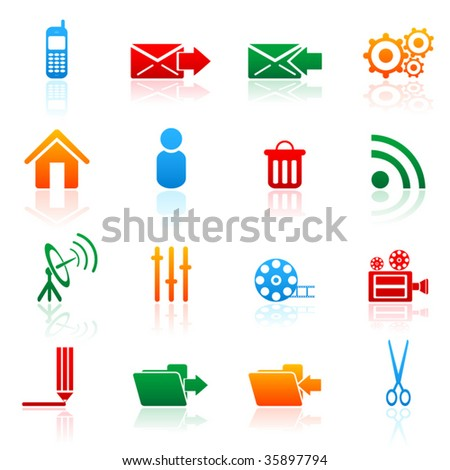 Colored vector icon (set 6)