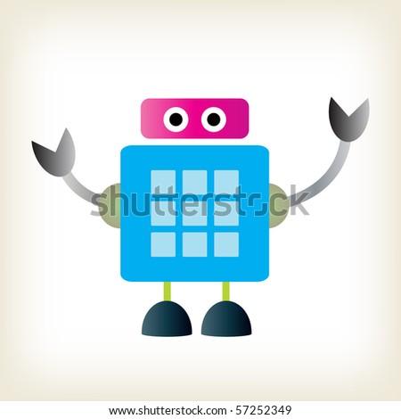 Colored vector robot. - stock vector