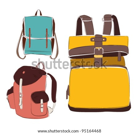 colored vintage backpack