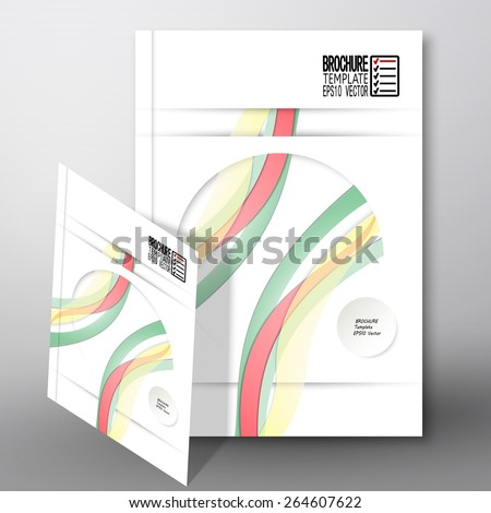 Colored wave background. Brochure, flyer or report for business, template vector. - stock vector