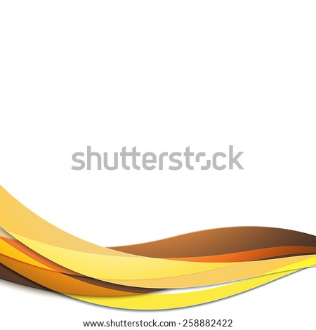 Colored wavy vector illustration. Abstract template design.  - stock vector
