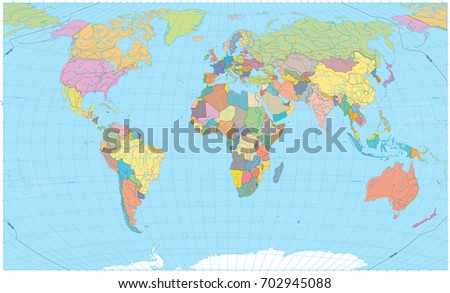 Colored world map borders roads rivers stock vector 702945088 colored world map borders roads rivers and lakes no text detailed gumiabroncs Image collections