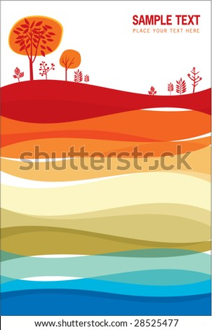 colorful abstract background for your cover - stock vector