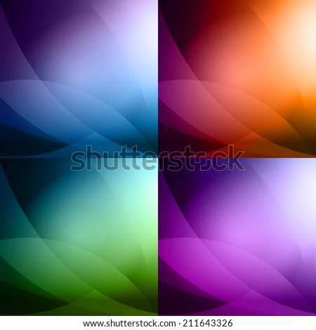 Colorful Abstract Background Set - stock vector
