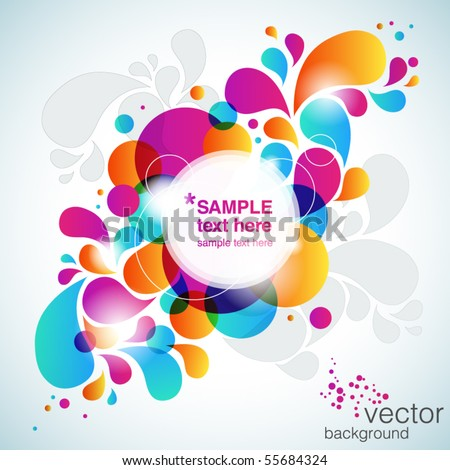 Colorful abstract background. Vector - stock vector