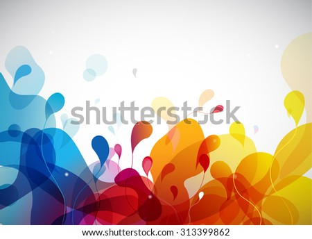 Colorful abstract background with flowers. - stock vector