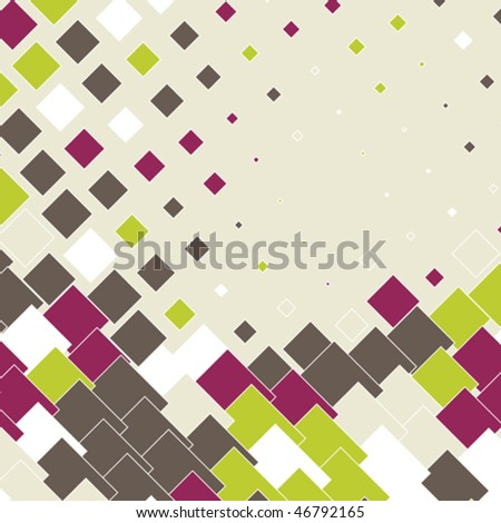 colorful abstract background with mosaic design, vector illustration