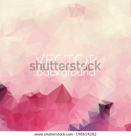 Colorful Abstract Background With Triangles. Vector Illustration. Eps 10. - stock vector