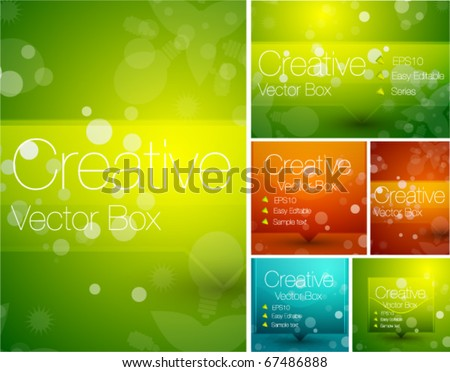 Colorful abstract backgrounds - stock vector