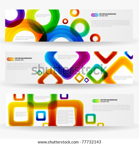 Colorful Abstract Banner - stock vector