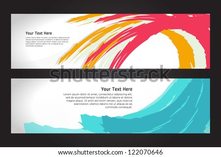 Colorful abstract Banner & Header set Eps. 10 - stock vector