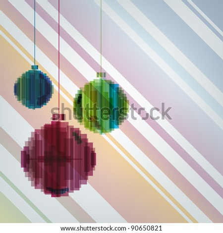 Colorful abstract christmas balls - stock vector