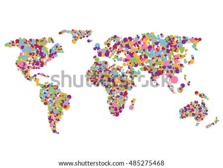 Colorful abstract creative world map on stock vector 485275468 colorful abstract creative world map on white background gumiabroncs Images