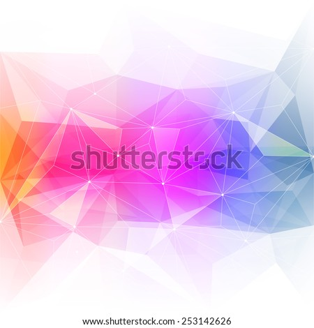 Colorful abstract crystal background. Ice or jewel structure. Pink, Yellow and green bright colors. - stock vector