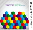 Colorful Abstract Cubes - Vector Background - stock vector