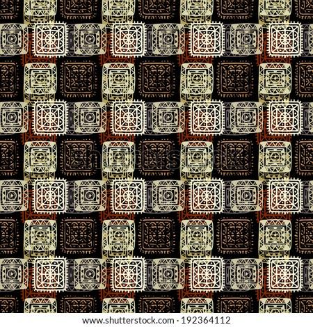 seamless pattern. Aztec ornament. Tribal art. Folk. Shawl. Lace. Batik ...
