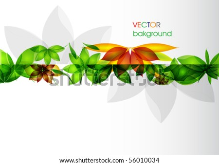 colorful abstract floral background - stock vector