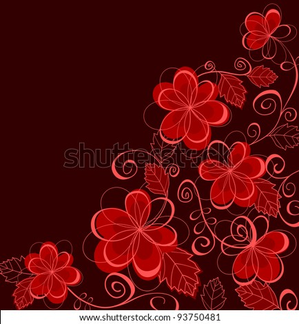 Colorful abstract floral background for textile or invitation card design. Jpeg version also available in gallery - stock vector