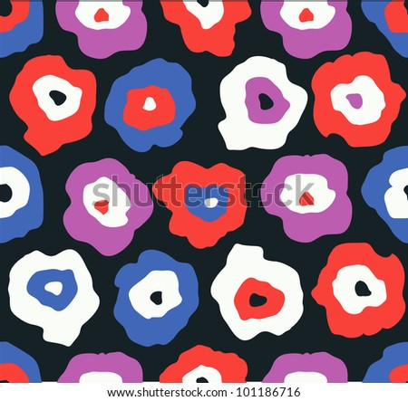 Colorful abstract flower pattern. Vector illustration - stock vector