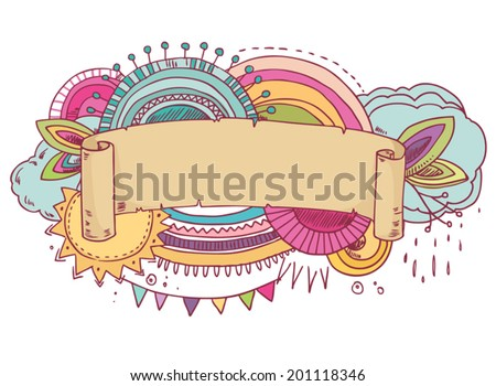 Colorful abstract frame with space for your text. Vector illustration  - stock vector