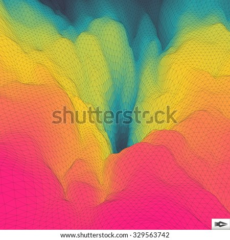 Colorful Abstract Geometric Background. Mosaic.  - stock vector