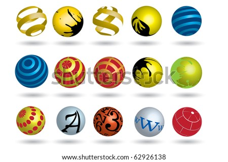 Colorful abstract icon - stock vector