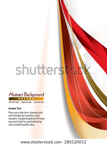 Colorful Abstract lines Vector Background. - stock vector