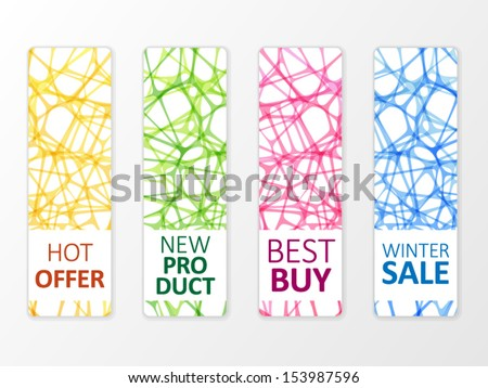 Colorful abstract offers labels - stock vector