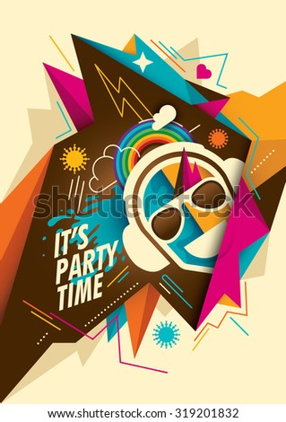 Colorful abstract party background. Vector illustration. - stock vector