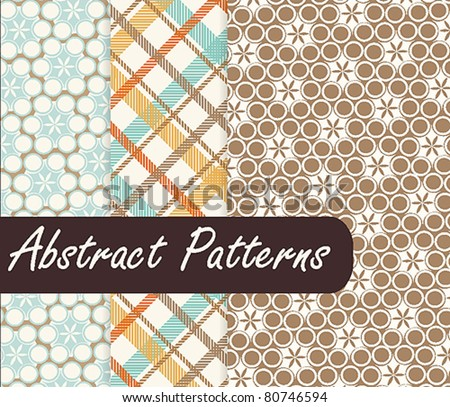 Colorful Abstract Patterns - stock vector