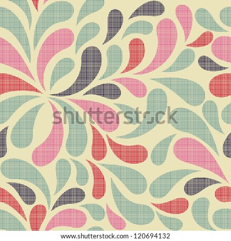 colorful abstract seamless pattern - stock vector