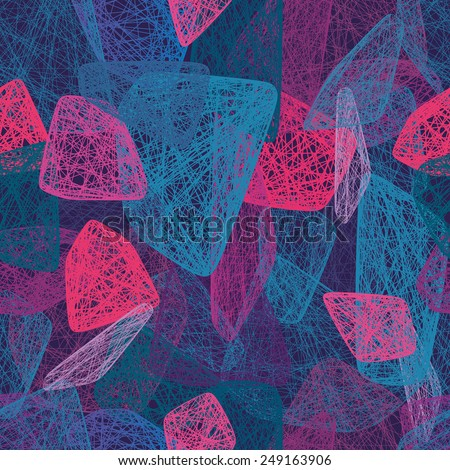 Colorful abstract shapes Seamless pattern - stock vector