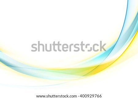 Colorful abstract smooth waves design. Vector bright wavy background